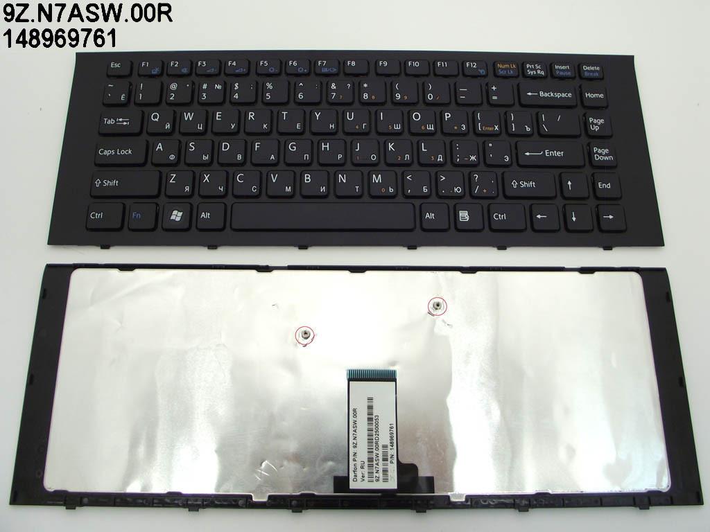 Клавиатура для ноутбука Sony VPC-EG Series ( RU Black, черная рамка). (Sf0sw 9Z.N7asw.00R 148969761).