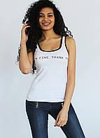 Майка женская  I*M FINE 9177 Белый