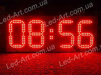 Светодиодные электронные цифровые часы-термометр LED-ART-Clock-595х240-360, часы-термометр led