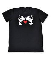 Детская стильная  хлопковая футболка для девочек с принтом Микки Мауса