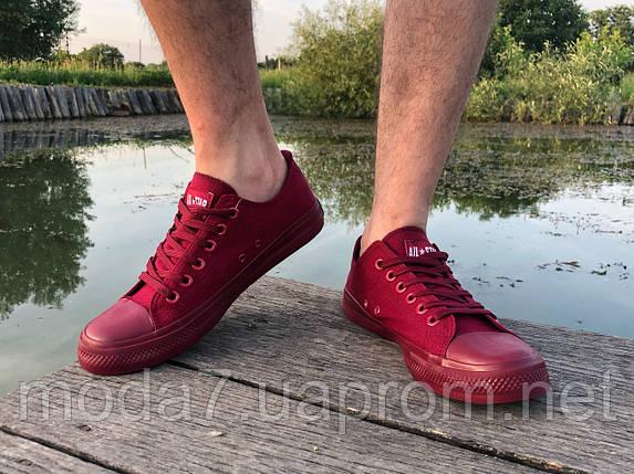 Кеды мужские бордовые Converse реплика, фото 2