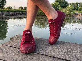 Кеды мужские бордовые Converse реплика, фото 3