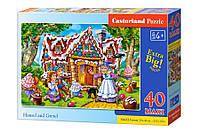 Детские макси пазлы Пряничный домик на 40 элементов