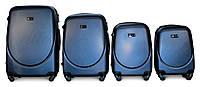 Набор чемоданов 4 штуки в 1 Fly 310 на 4 колесах Темно-синий