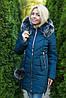 Зимняя женская куртка синяя, фото 6