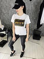 Футболка женская Gucci R444 белая