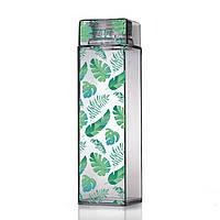 Бутылка для воды из пищевого пластика ZIZ Пальмовые листья (450 мл)
