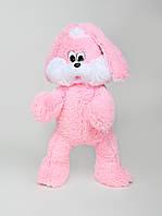 """Мягкая игрушка Зайчишка """" Снежок"""" розовый,  высота 65 см"""