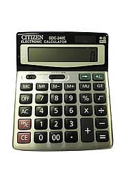 Калькулятор CITIZEN SDC-240Е (12 разрядный) двойное питание