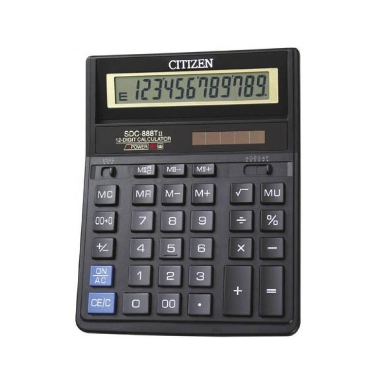 Калькулятор настольный CITIZEN SDC-888TII 12 разрядный (двойное питание)