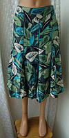 Юбка женская шикарная лен и шелк миди бренд Monsoon р.44