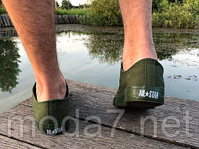 Кеды мужские хаки Converse реплика, фото 2