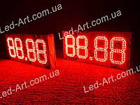 Комплект из 2 светодиодных табло для газовой АЗС  LED-ART-Stela-200-12, ценовой модуль для АЗС