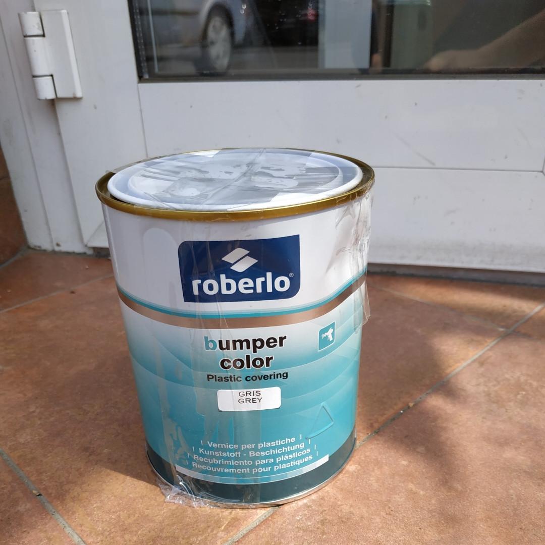 Краска для бамперов Roberlo серая 1л