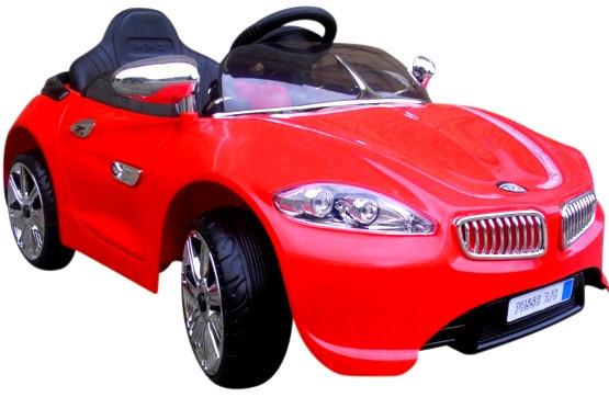 Детский электромобиль на аккумуляторе Cabrio B3 EVA красный мягкие колёса с пультом управления