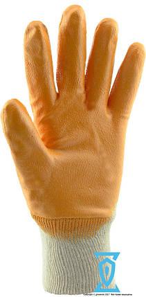 Перчатки рабочие нитрил жёлтый №8 (Intertool SP-0108), фото 2