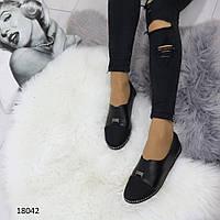 Женские туфли черные 18042
