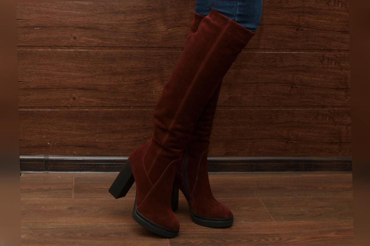 Ботфорты женские на высоком каблуке YDG Bellini