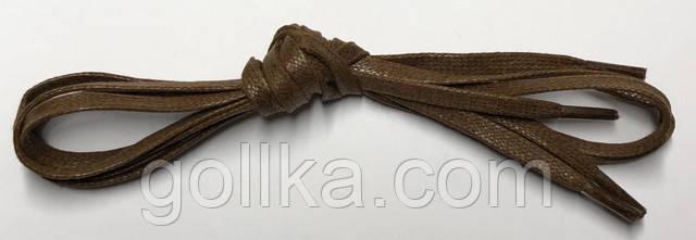 Шнурки плоские с пропиткой светло-коричневые