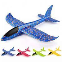 Літак планер, пінопластовий 48 см, в пакеті, мікс кольорів