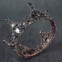 Корона круглая на голову, корона для волос украшения для волос