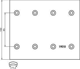 Комплект гальмівних накладок Textar 1901001