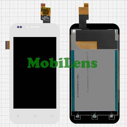 FLY IQ442Q, Miracle 2 Дисплей+тачскрин(модуль) белый Original, фото 2