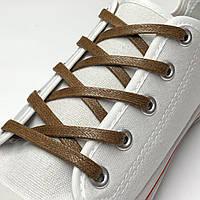 Шнурки с пропиткой плоские светло-коричневые 90 см (Ширина 5 мм), фото 1