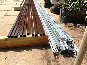 Металлические профили (железные и стальные), из которых состоят системы креплений для солнечных батарей.