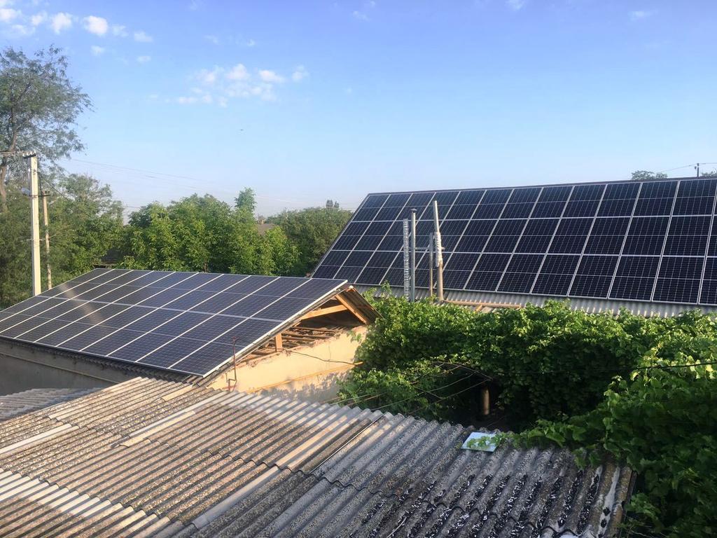 """Приозерное солнечная электростанция под """"зеленый"""" тариф мощностью 30 кВт Risen + Huawei Херсонская область"""