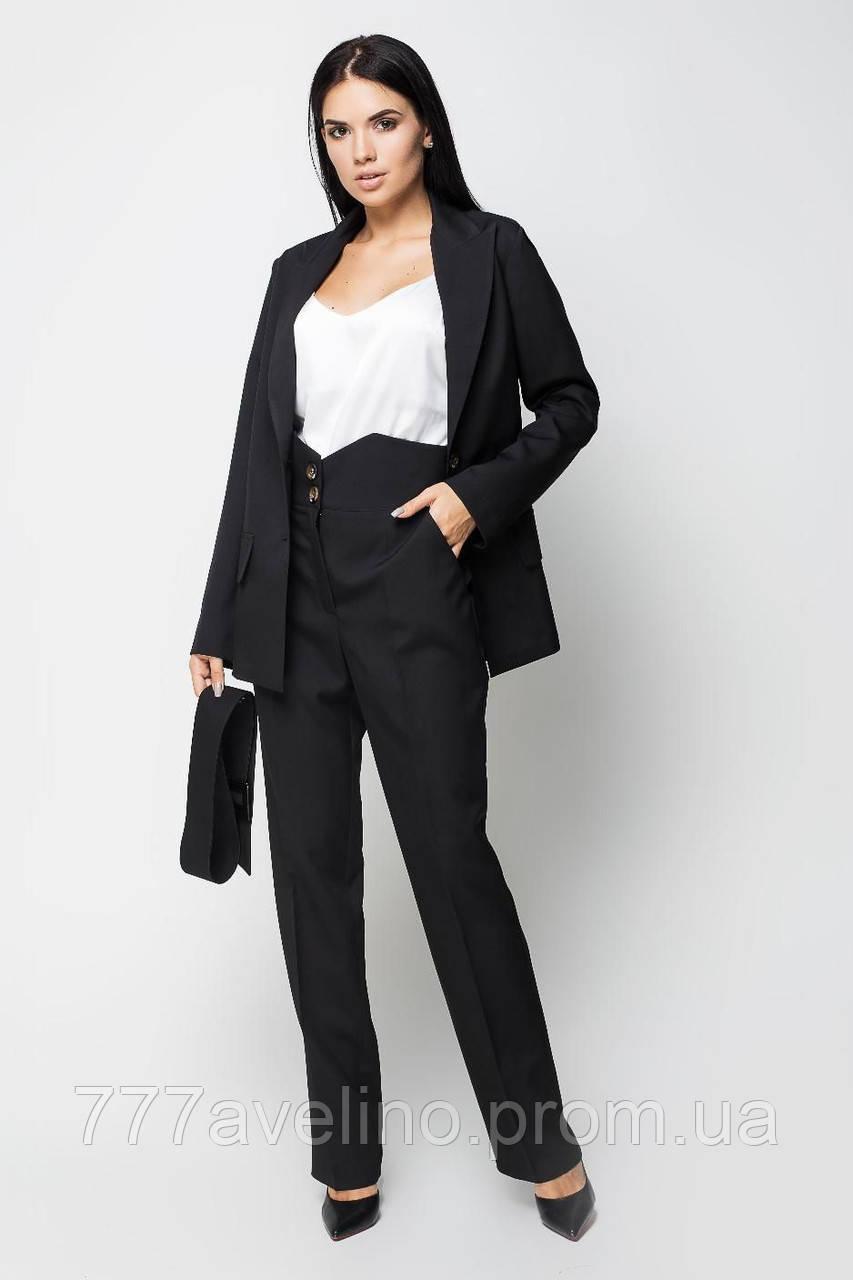 Женский брючный деловой костюм стильный