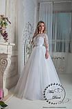 Платье свадебное белое с рукавом размер 48-50, фото 3