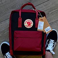 Рюкзак Fjarvallen Kanken Classic Black ox red (W) (реплика), фото 1