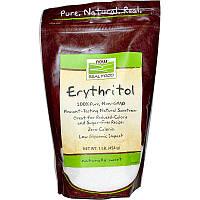 """Эритритол NOW Foods, Real Food """"Erythritol"""" натуральный сладкий вкус (454 г)"""