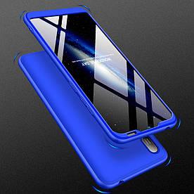 Чехол накладка для Huawei Y6 Pro 2019 противоударный матовый, GKK Full Cover, синий