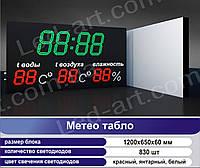 Метео табло светодиодное 1200 х 650 мм LED-ART-1200х650-830