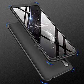 Чехол накладка для Huawei Y6 Pro 2019 противоударный матовый, GKK Full Cover, черный
