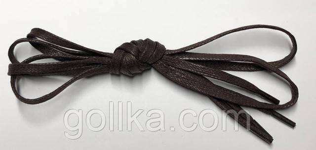 Шнурки с пропиткой плоские темно-коричневые