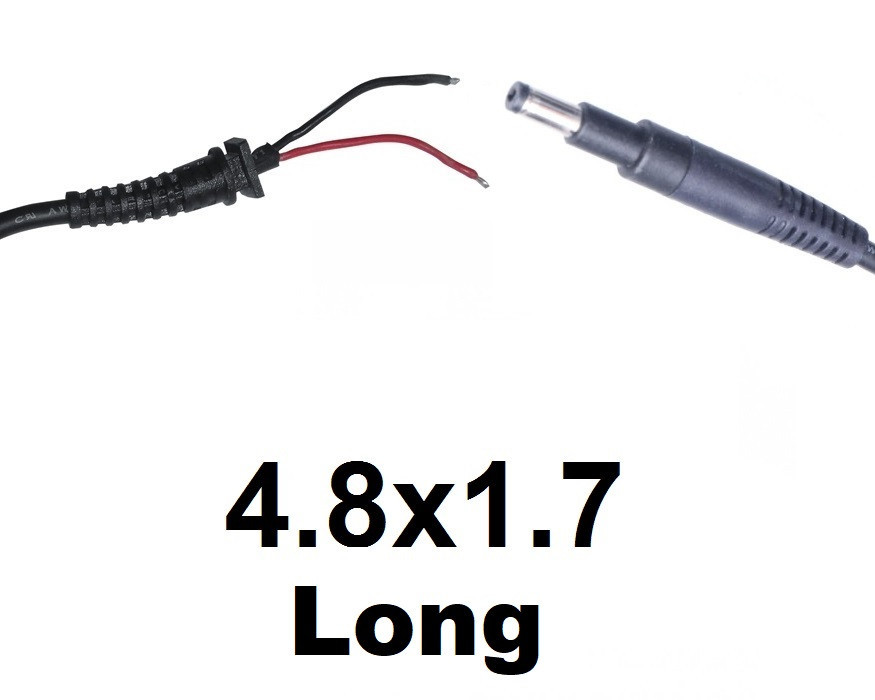 ОПТом Кабель для блока питания ноутбука HP 4.8x1.7 Long (до 5a) (T-type)