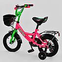 """Велосипед 12"""" дюймов 2-х колёсный G-12407 """"CORSO"""" ручной тормоз, корзинка, звоночек, сидение с ручкой, , фото 2"""