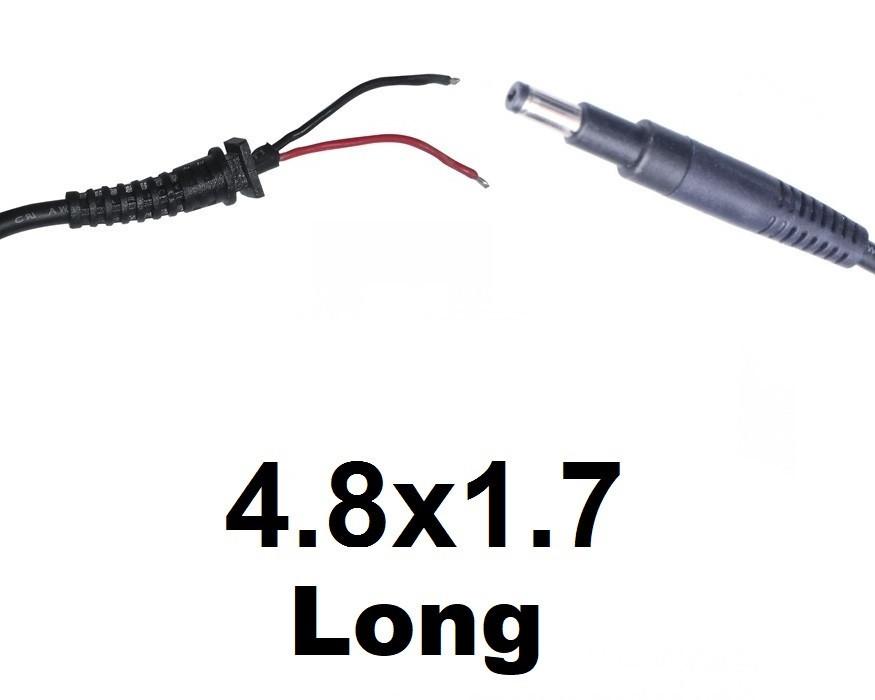 Кабель для блока питания ноутбука HP 4.8x1.7 Long (до 3.5a) (T-type)