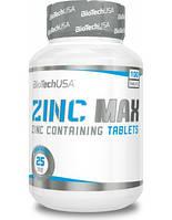 Биологическая добавка на основе цинка BioTech Zinc MAX (100 таб)