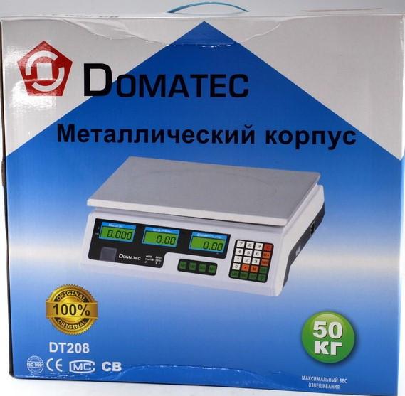 Весы торговые электронные DOMOTEC MS-208, металлический корпус 50кг