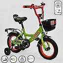 """Велосипед 12"""" дюймів 2-х колісний G-12517 """"CORSO"""" ручне гальмо, кошик, дзвіночок, сидіння з ручкою,, фото 2"""