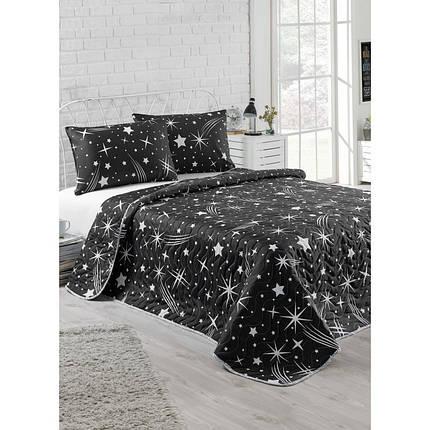 Покрывало 200х220 с наволочками на кровать, диван Галлея черная, фото 2