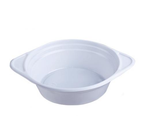 Тарелка одноразовая глубокая суповая 350мл белая 100шт Укр.