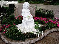 Памятник детский из красного гранита со скульптурой
