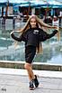 Костюм юбочный для девочки свитшот+юбка итал трикотаж 134,140,146,152, фото 2