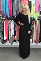 Длинное Платье из трикотажного масла в пол Размеры 40-54, фото 1