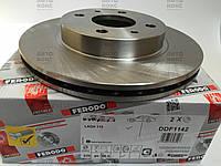 Диск тормозной передний Ferodo DDF1142 (R13) . ВАЗ 2108-099, 2110-2112, 1117-18